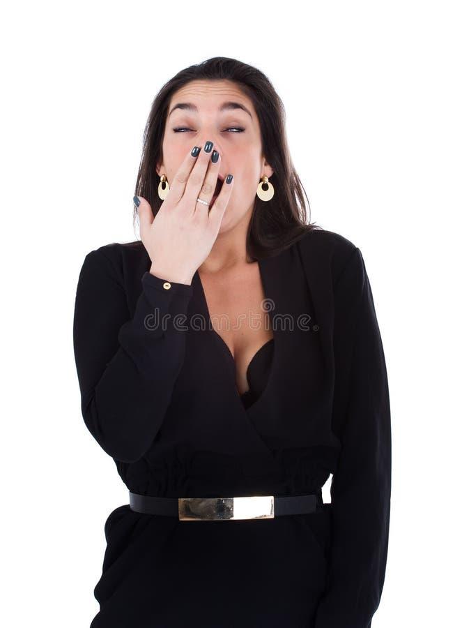 Vrouw geeuw royalty-vrije stock afbeeldingen