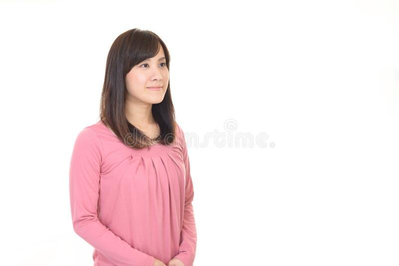 Vrouw gelukkig glimlachen stock foto