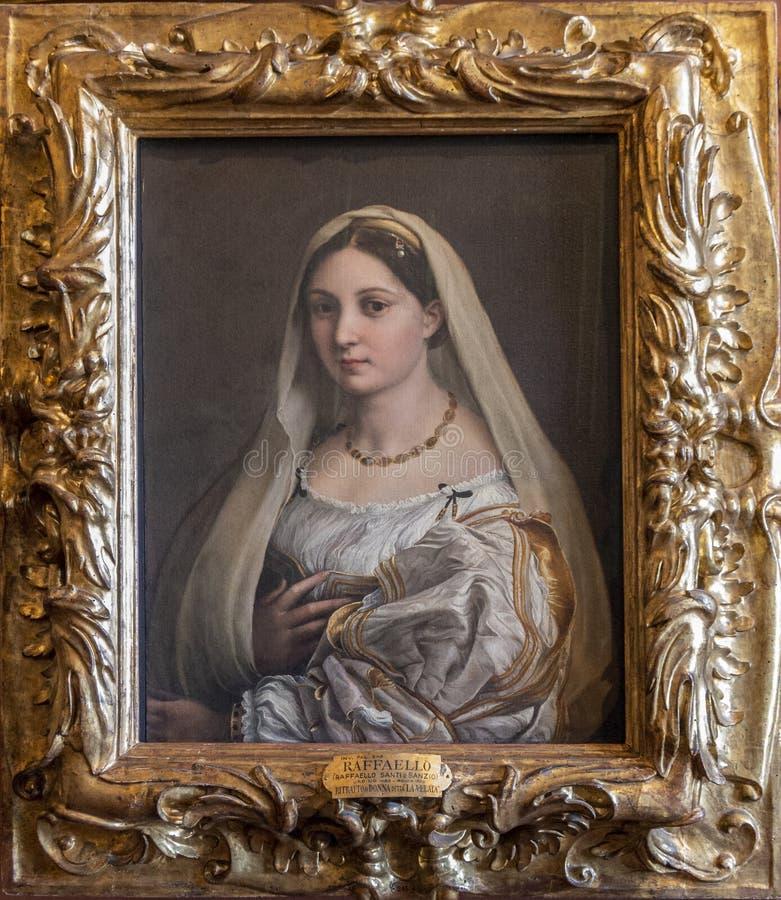 Vrouw genoemd versluierd royalty-vrije stock afbeelding
