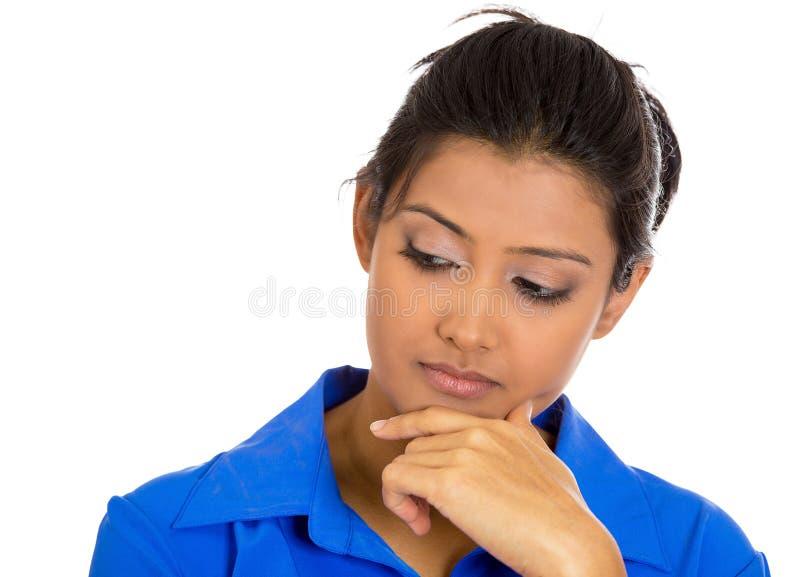 Vrouw het denken stock fotografie
