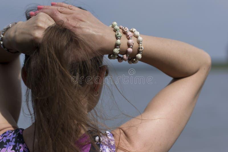 Vrouw het dromen royalty-vrije stock fotografie