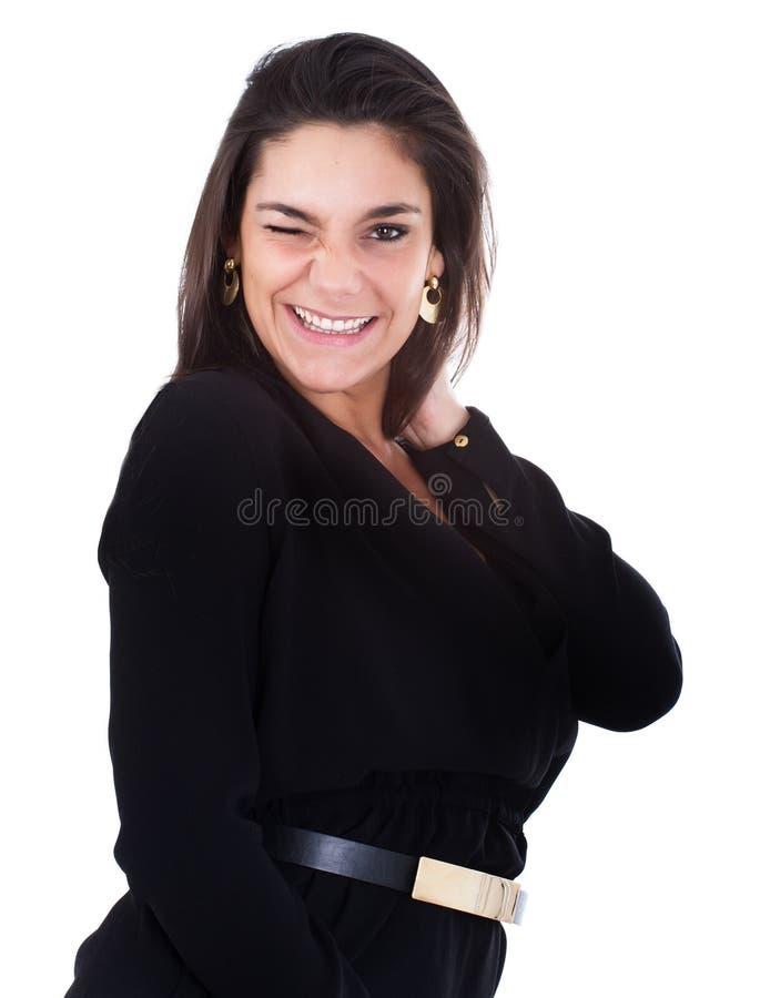 Vrouw het fascineren stock foto