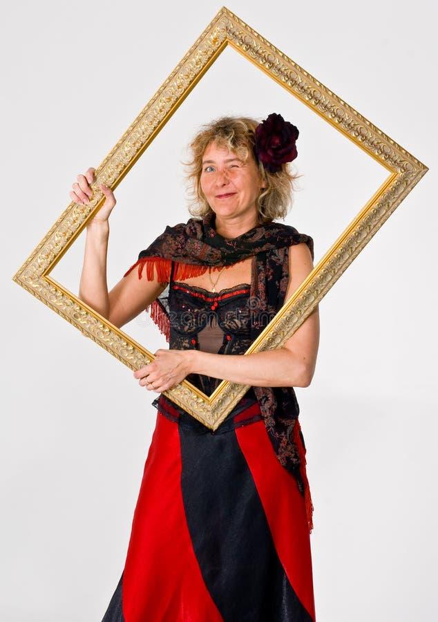 Vrouw in het Frame royalty-vrije stock foto