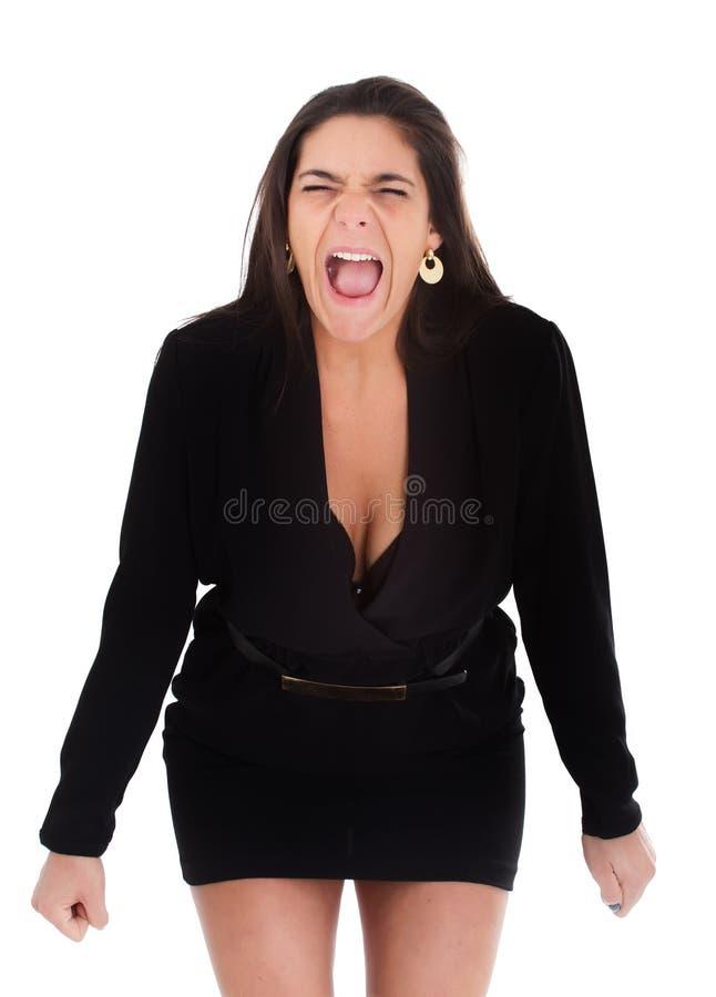 Vrouw het gillen royalty-vrije stock foto