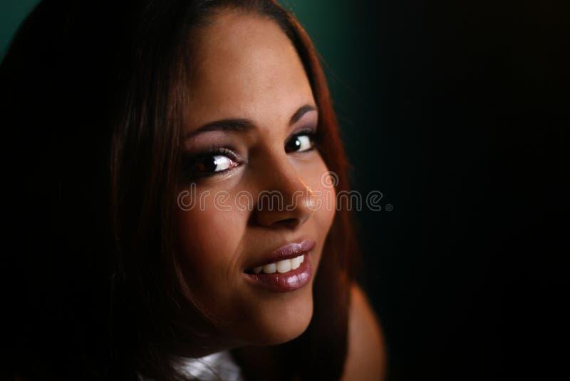 Vrouw het Glimlachen stock afbeeldingen