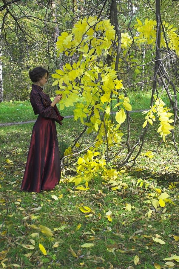 Vrouw in het park royalty-vrije stock afbeelding