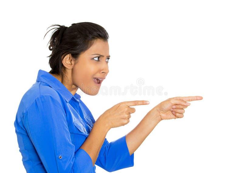 Vrouw het richten stock afbeelding