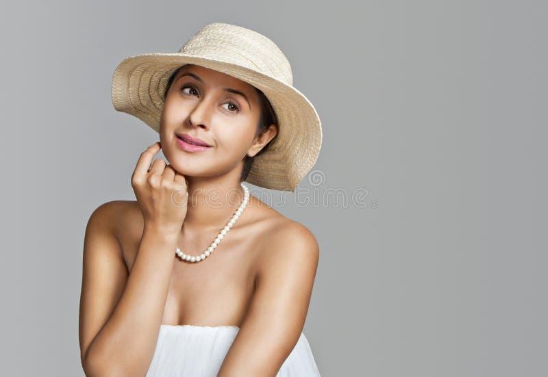 Vrouw het stellen royalty-vrije stock afbeelding