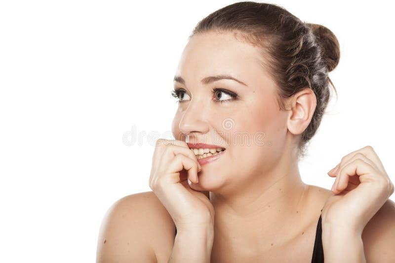 Vrouw het voorzien royalty-vrije stock afbeelding