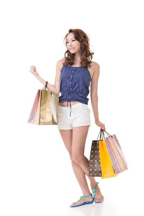 Vrouw het winkelen stock afbeelding