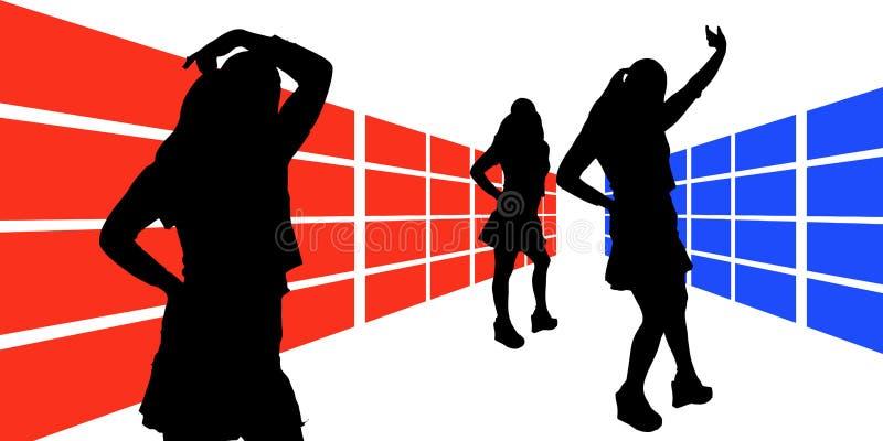 Vrouw illustreren-4 royalty-vrije illustratie