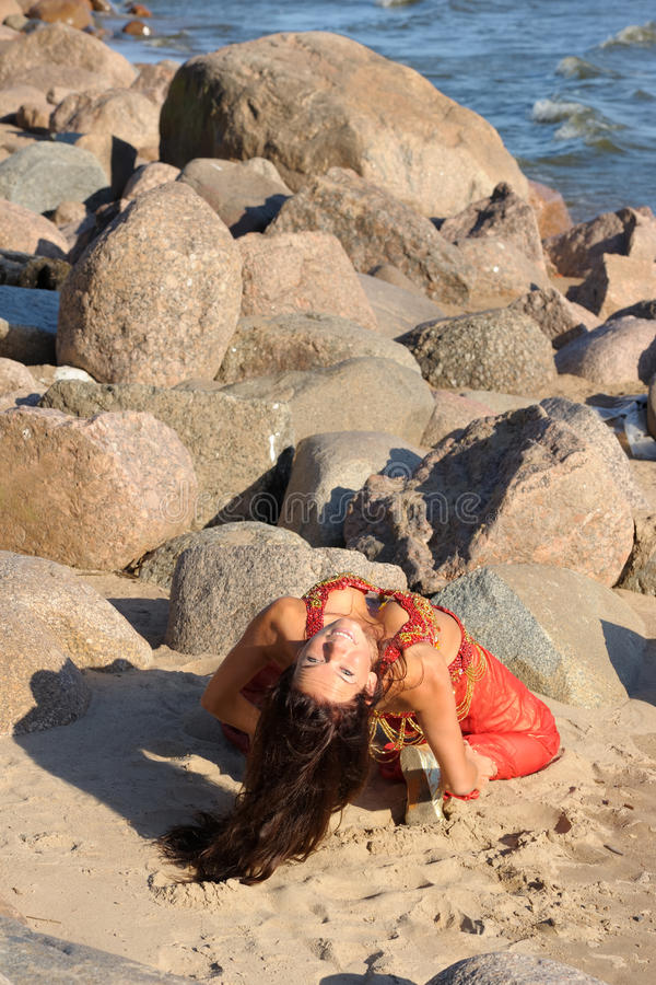 Vrouw in Indische kleding stock foto
