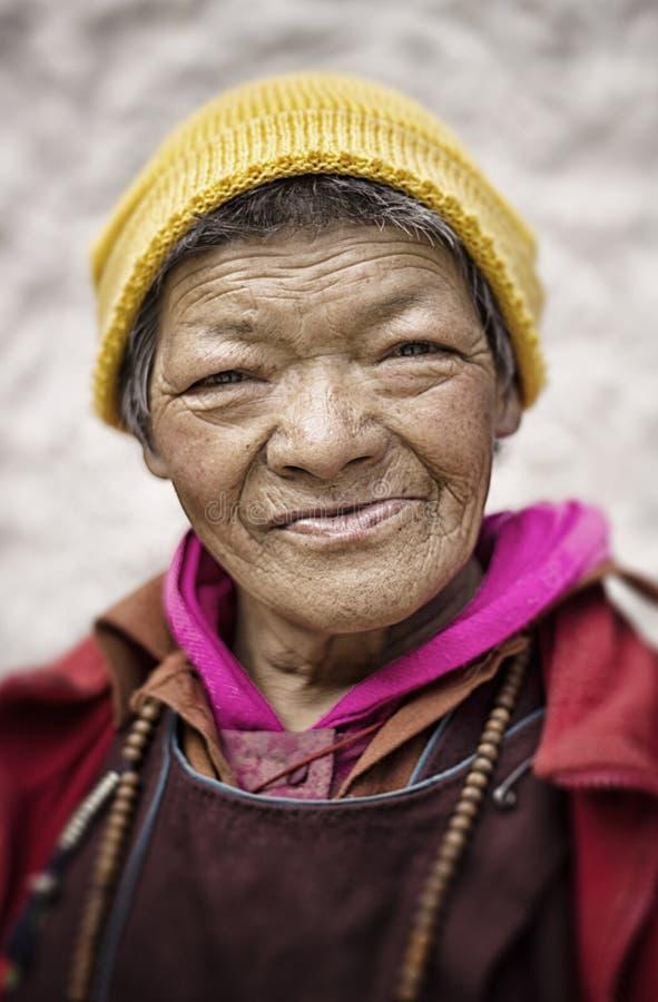 Vrouw in Ladakh royalty-vrije stock afbeeldingen
