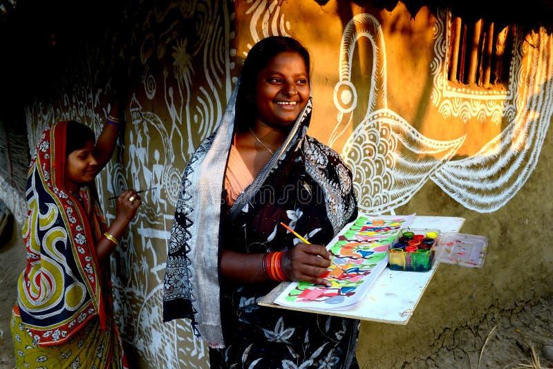 Vrouw in Landelijk India royalty-vrije stock foto