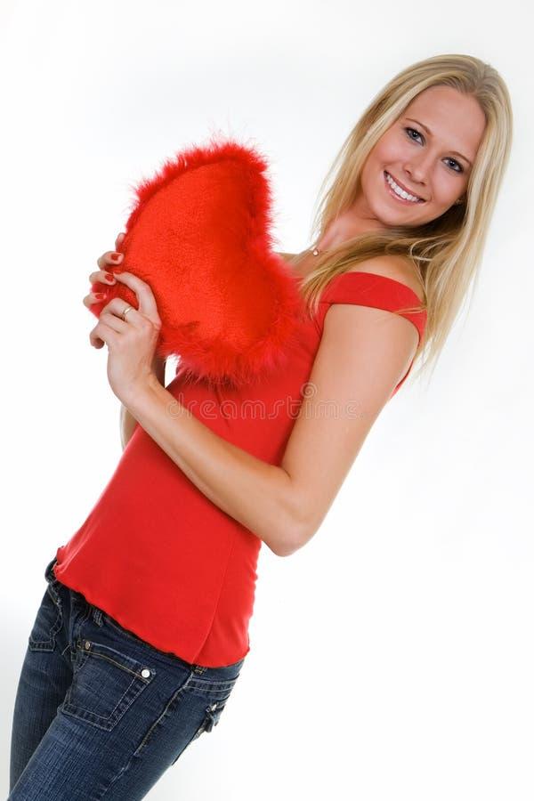 Vrouw in liefde stock foto