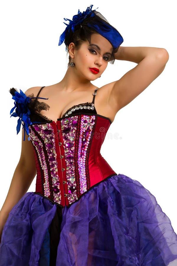 Vrouw in manierkleding stock afbeeldingen