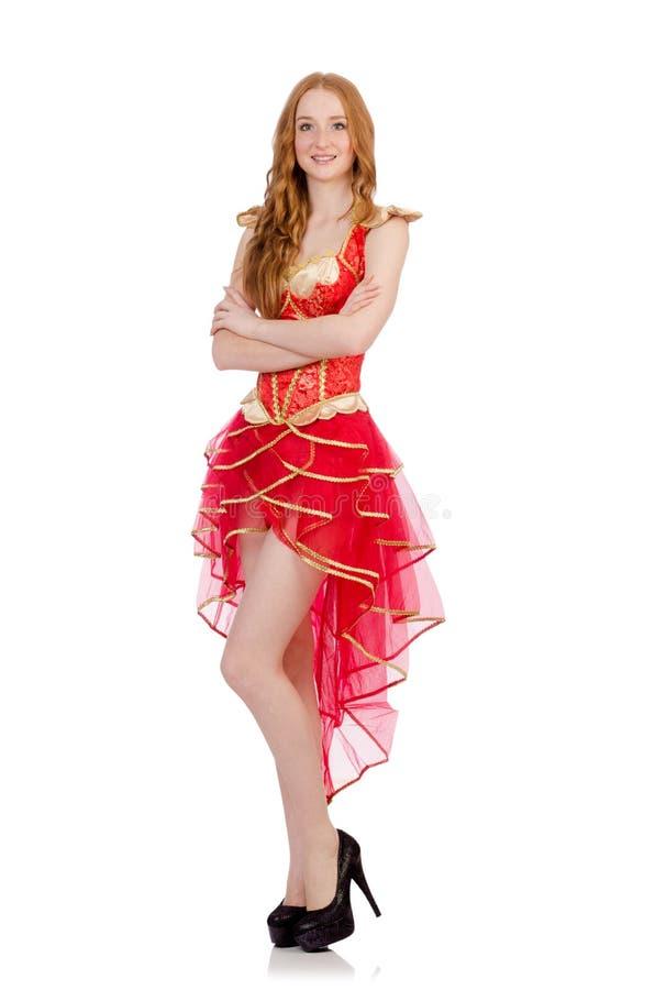 Vrouw in manierkleding royalty-vrije stock afbeelding