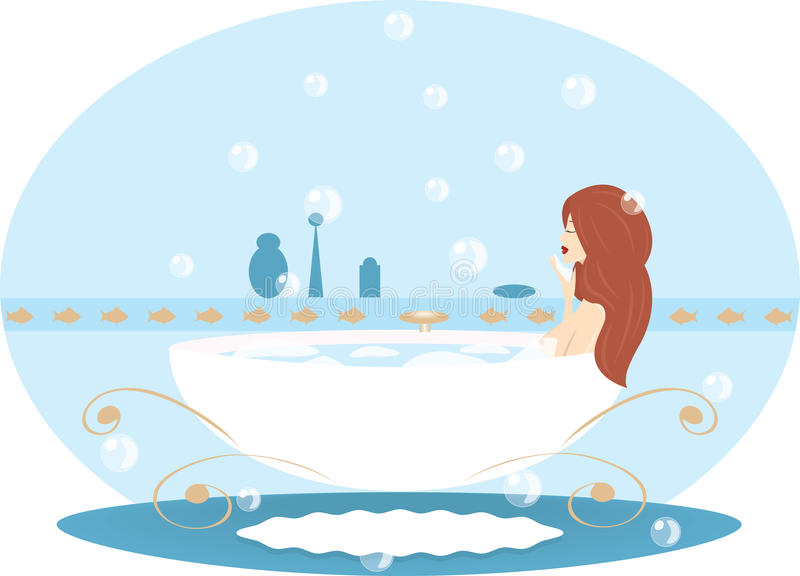 Vrouw/meisje royalty-vrije illustratie