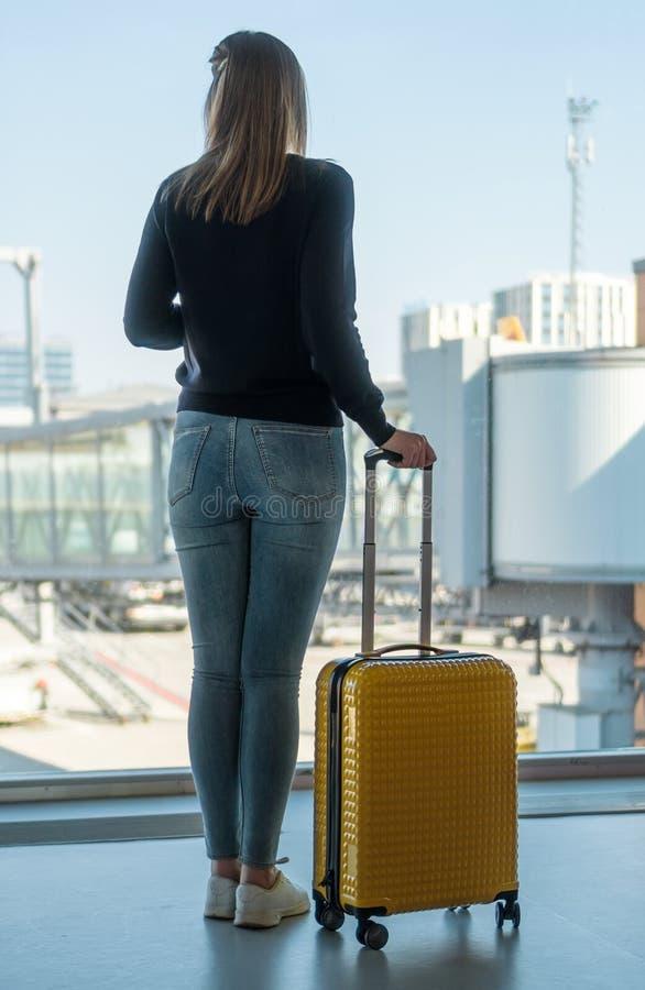Vrouw met Bagage stock foto