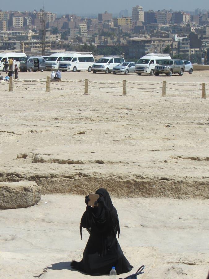 Vrouw met burka stock foto's