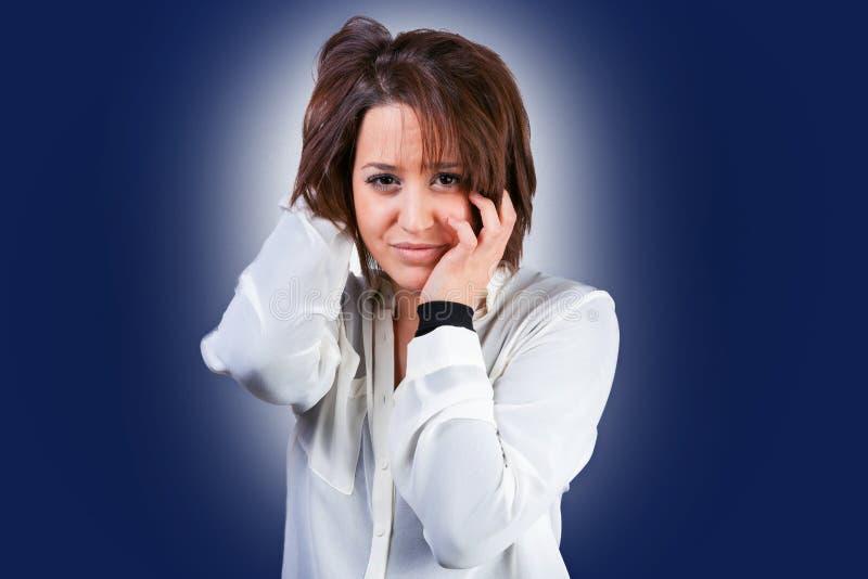Vrouw met depressie royalty-vrije stock afbeelding