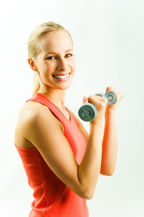 Vrouw met domoren stock afbeelding