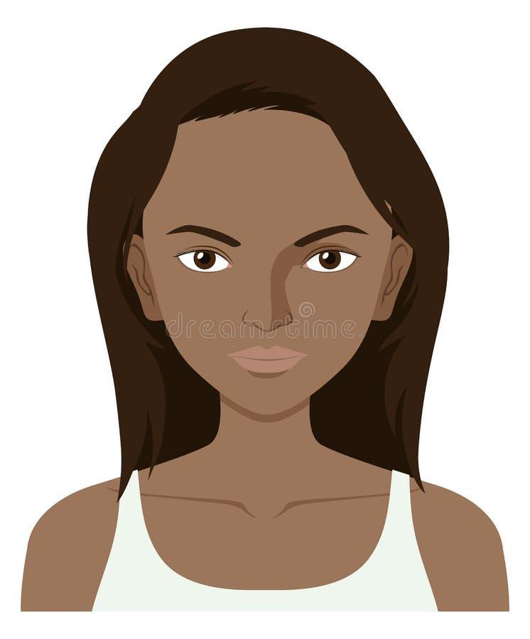 Vrouw met donkere huid vector illustratie