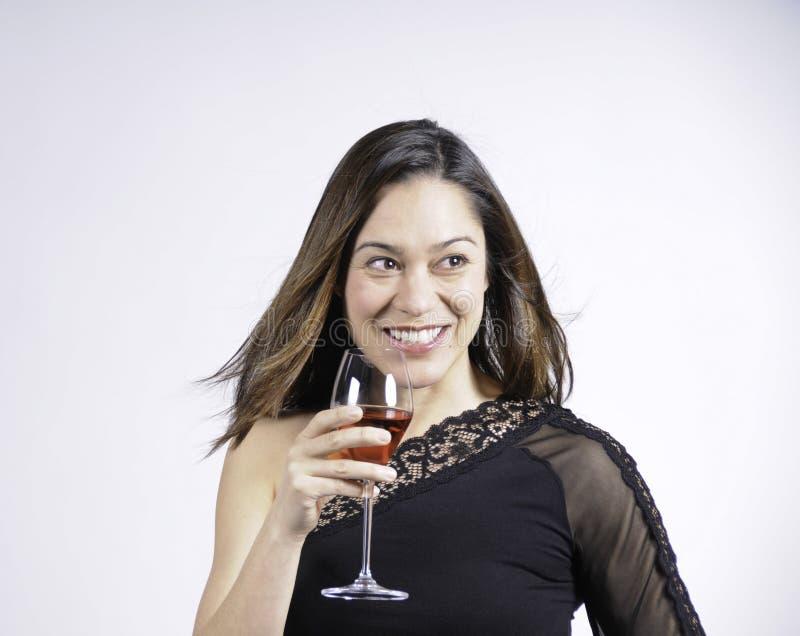 Vrouw met een grote glimlach stock afbeeldingen