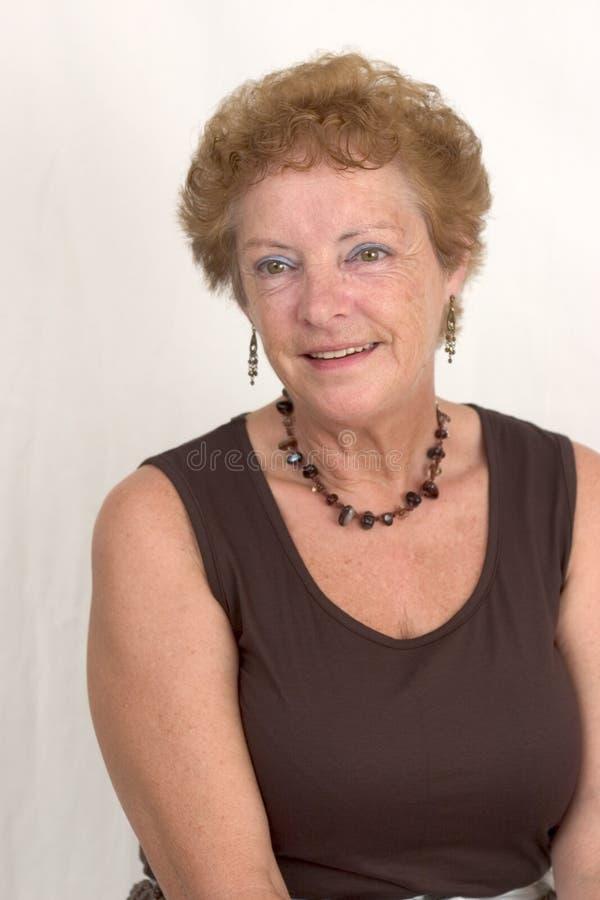 Vrouw met een mooie glimlach (1) royalty-vrije stock foto