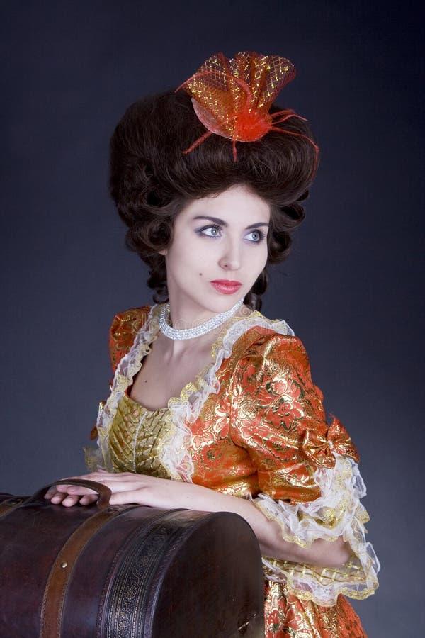 Vrouw met een zakreis royalty-vrije stock foto's
