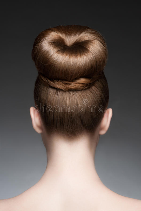 Vrouw met elegant kapsel stock fotografie