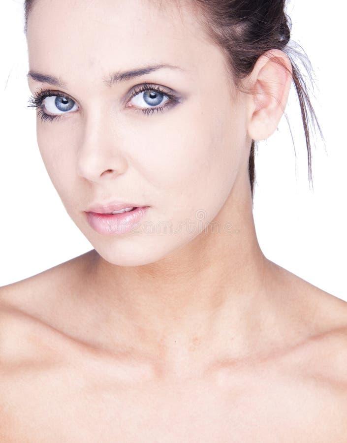 Vrouw met gezondheidshuid van gezicht stock foto