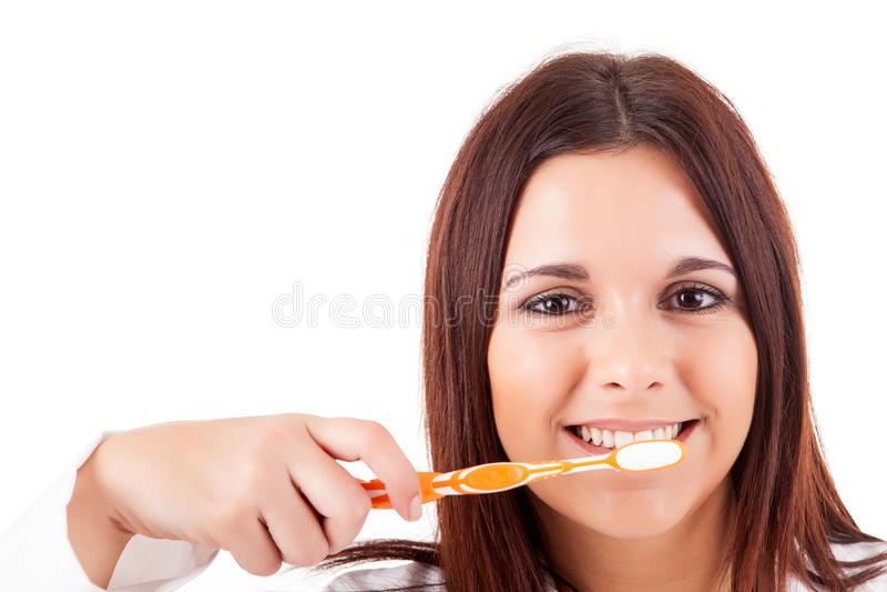 Vrouw met grote tanden royalty-vrije stock foto's