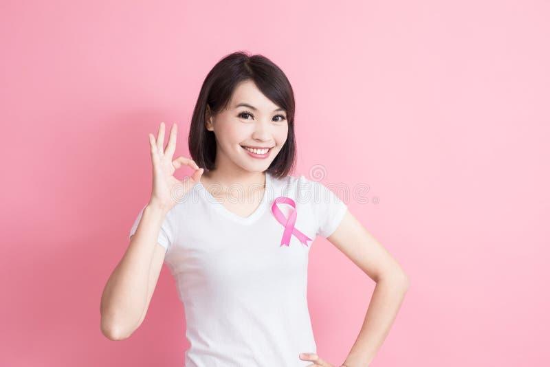Vrouw met het concept van de borstgezondheid royalty-vrije stock foto