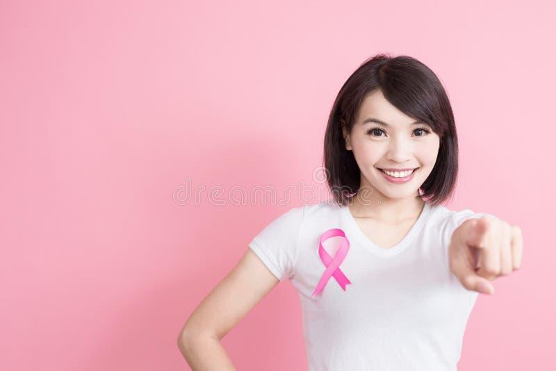 Vrouw met het concept van de borstgezondheid royalty-vrije stock afbeeldingen