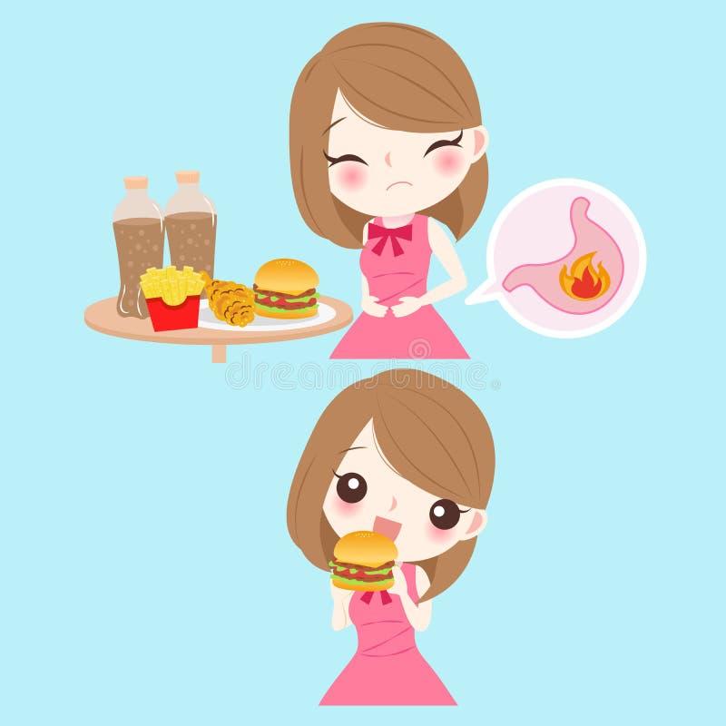 Vrouw met het zuur vector illustratie