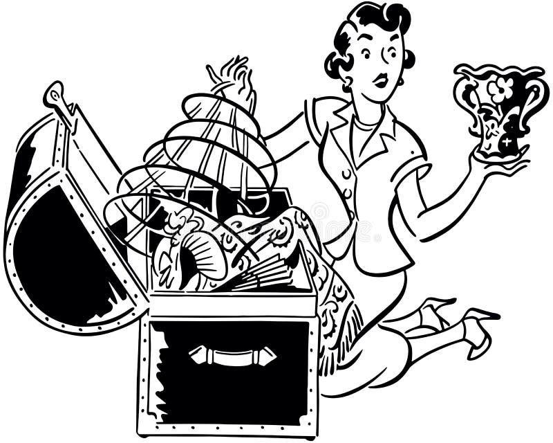 Vrouw met Hoopborst vector illustratie