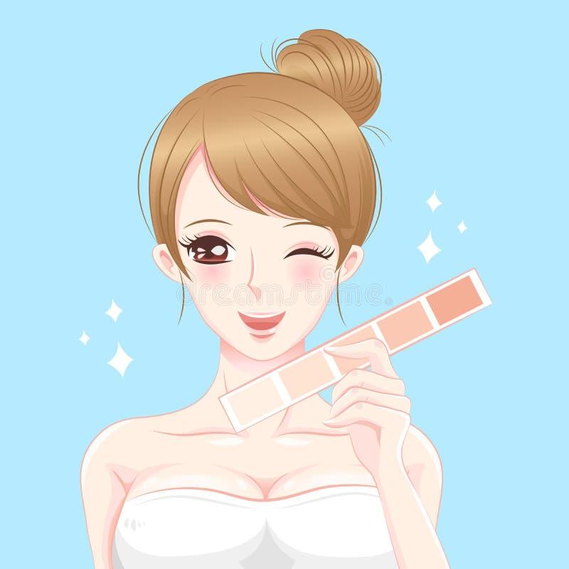 Vrouw met huidschaal stock illustratie