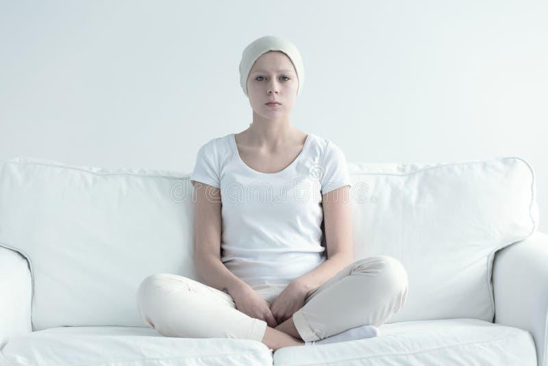 Vrouw met kanker royalty-vrije stock foto