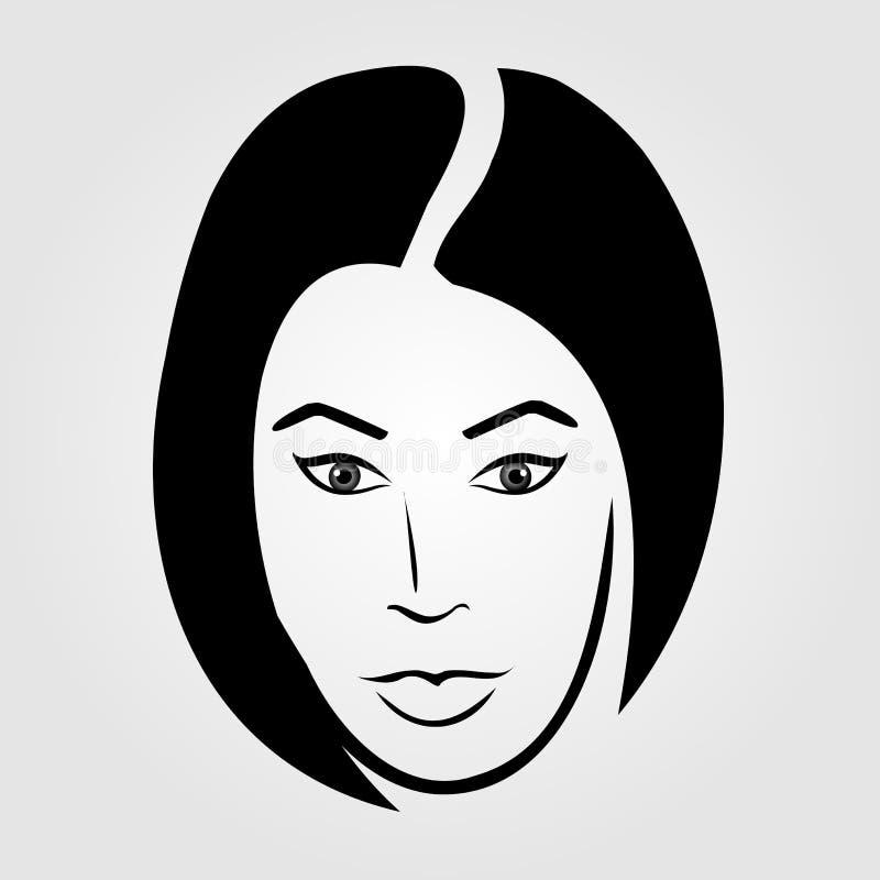 Vrouw met kort haar vector illustratie