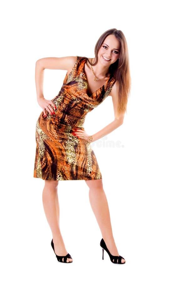 Vrouw met lange mooie haren royalty-vrije stock fotografie