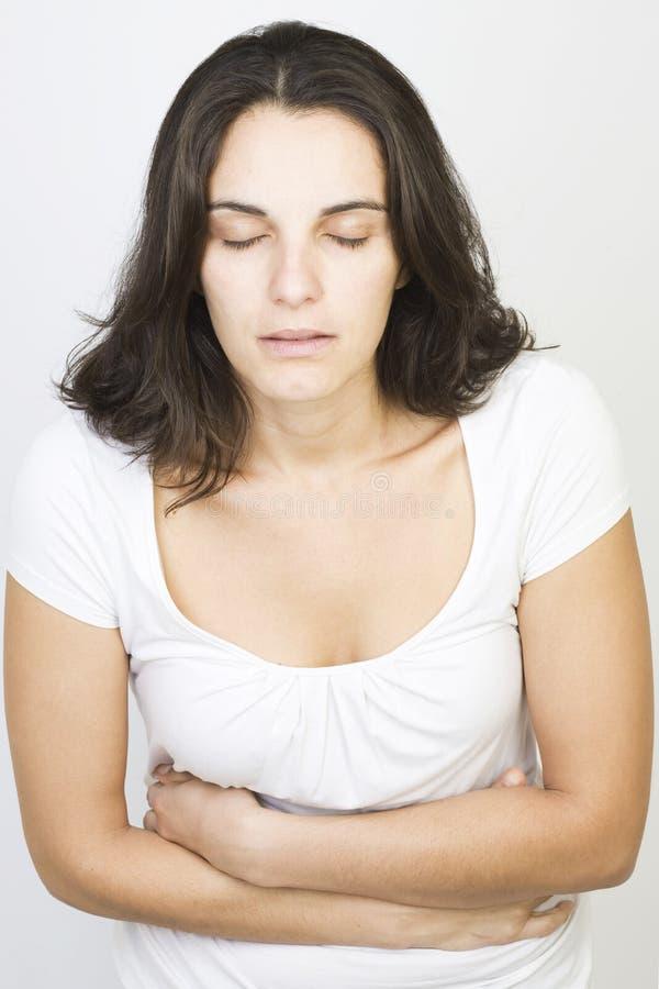 Download Vrouw met maagproblemen stock foto. Afbeelding bestaande uit brunette - 29506860
