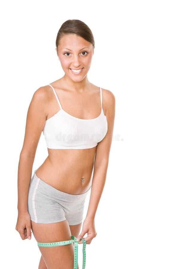 Download Vrouw met maatregel stock foto. Afbeelding bestaande uit schaal - 10780718