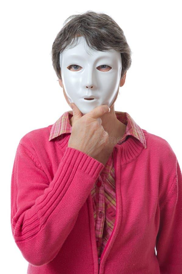 Vrouw met masker royalty-vrije stock afbeeldingen