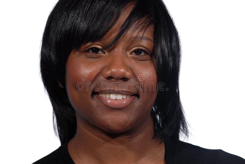 Vrouw met mooie glimlach stock afbeeldingen