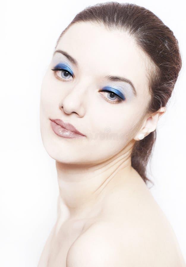Vrouw met perfecte huid royalty-vrije stock foto's