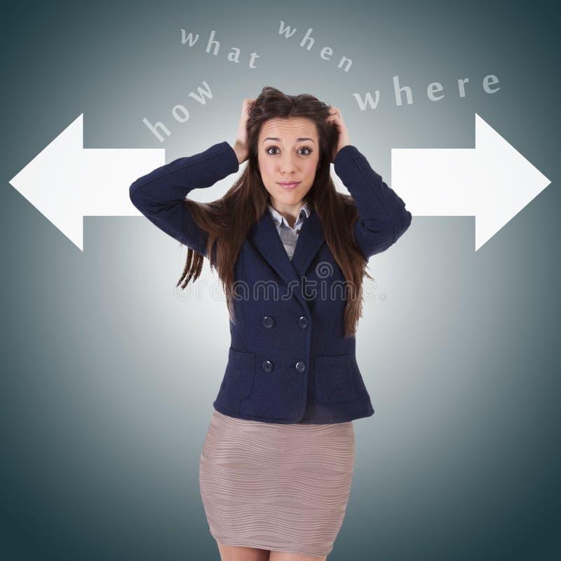 Download Vrouw met pijl stock afbeelding. Afbeelding bestaande uit pijlen - 54087895
