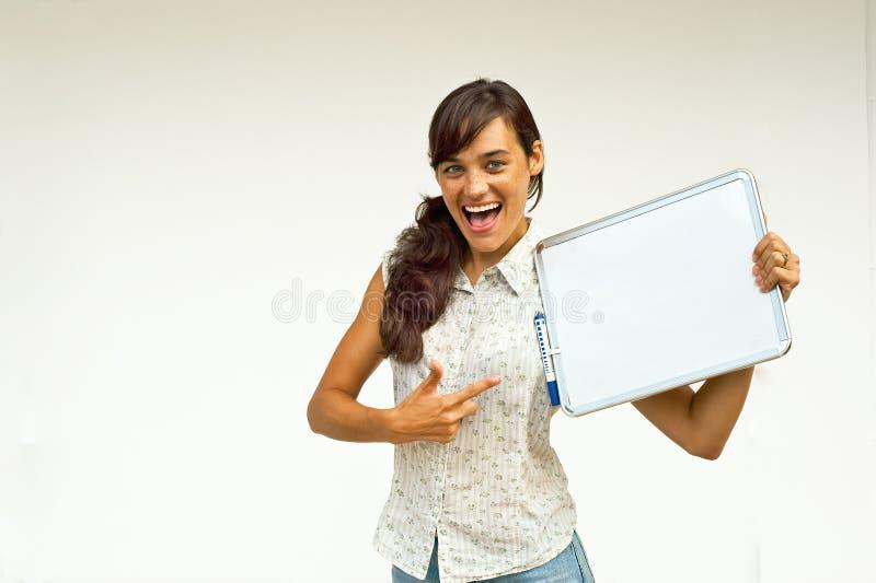 Vrouw met raad stock afbeeldingen