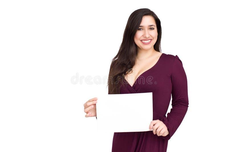 Vrouw met raad stock foto's