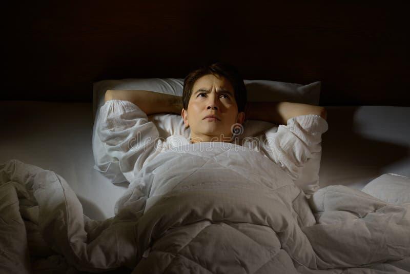 Vrouw met slapeloosheid royalty-vrije stock foto's